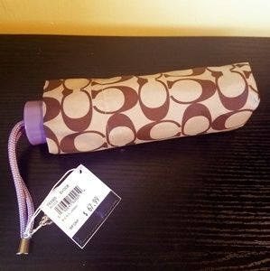 New with tags Coach purse size umbrella